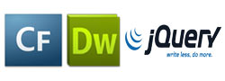 ColdFusion Jquery Website and Web Applications Development on Dreamweaver